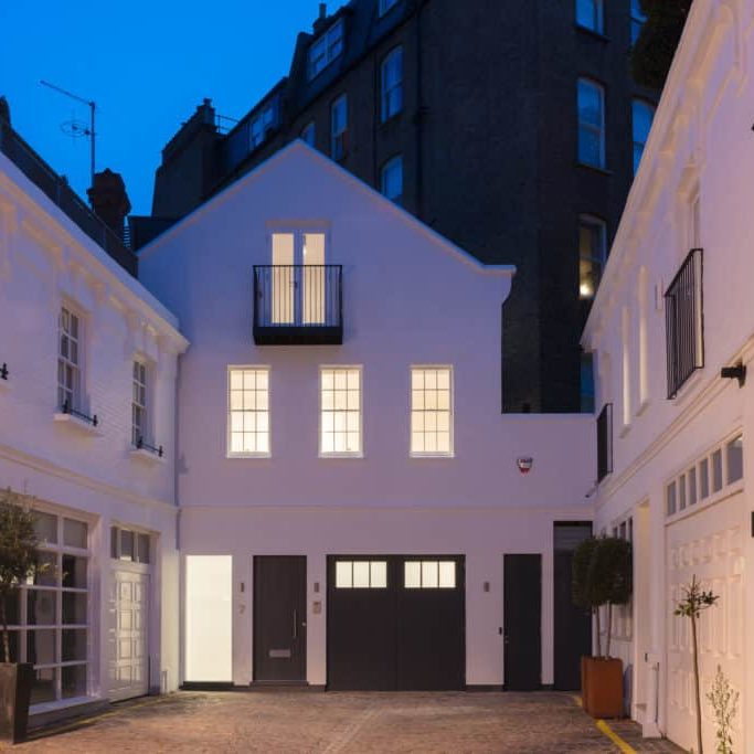 Earl's Court Mews exterior night